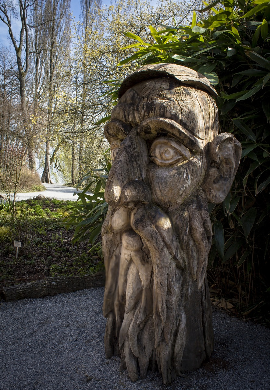 wood head carving sculpture free photo