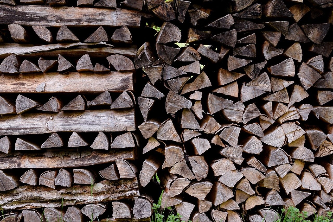 wood pile  firewood  wood for the fireplace free photo