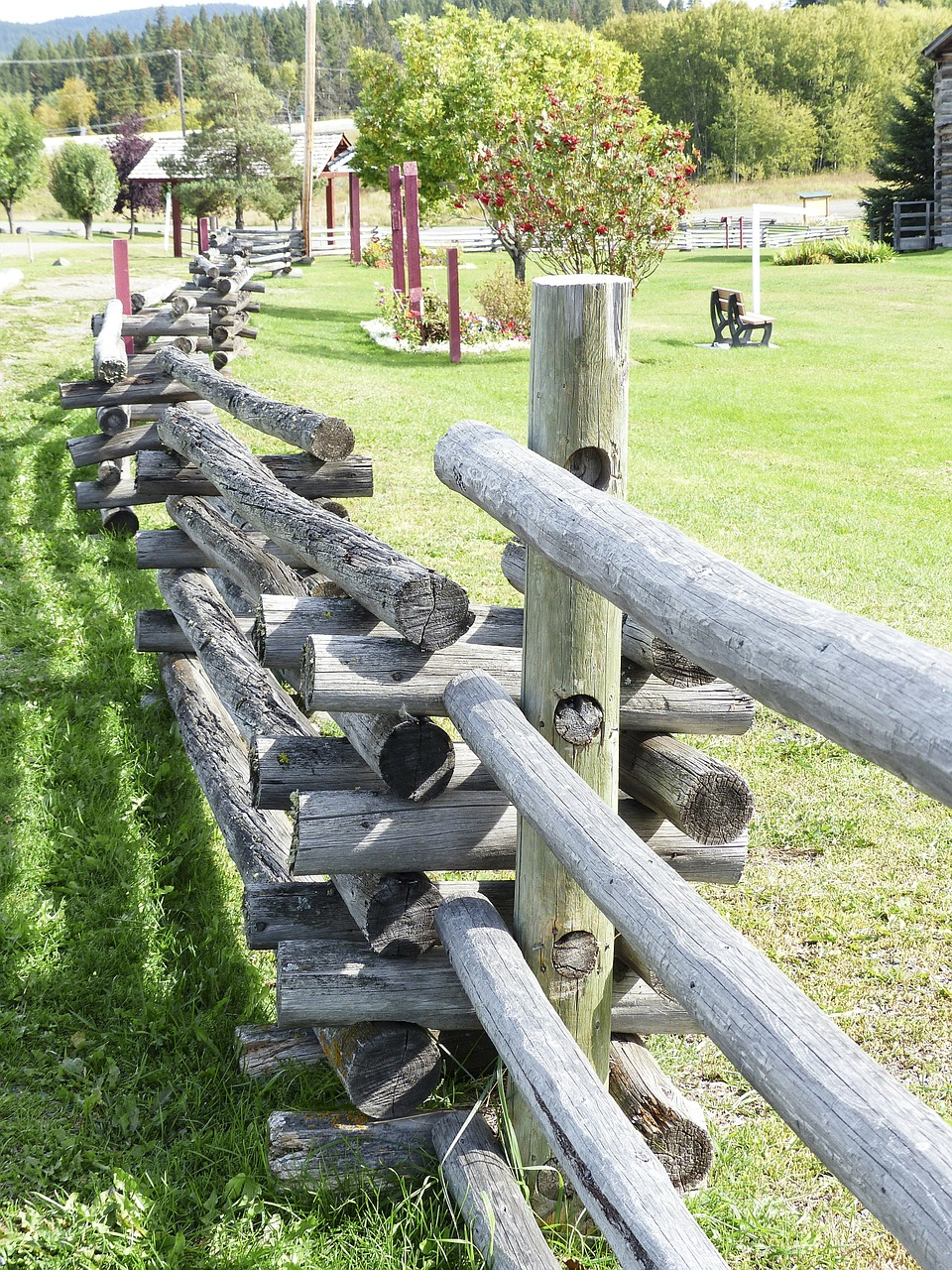 wooden fence landscape free photo