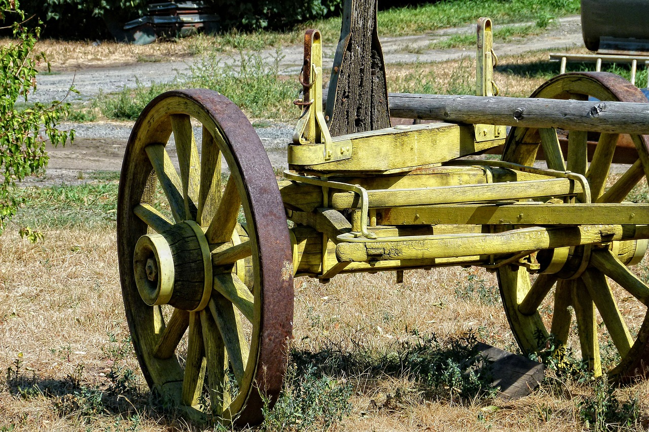 wooden axle trailer free photo