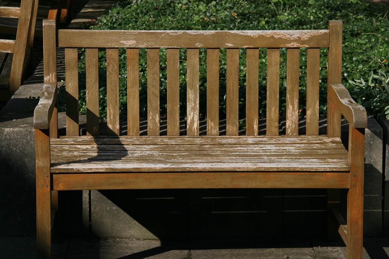 Merveilleux Wooden Bench Bank Bench Free Picture