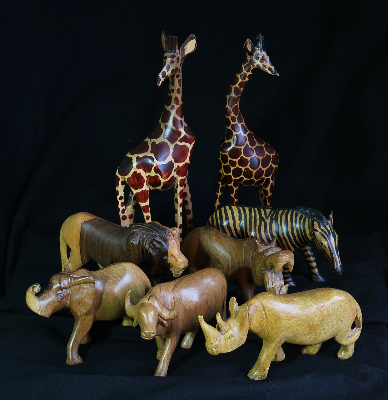 wooden toys souvenirs africa free photo
