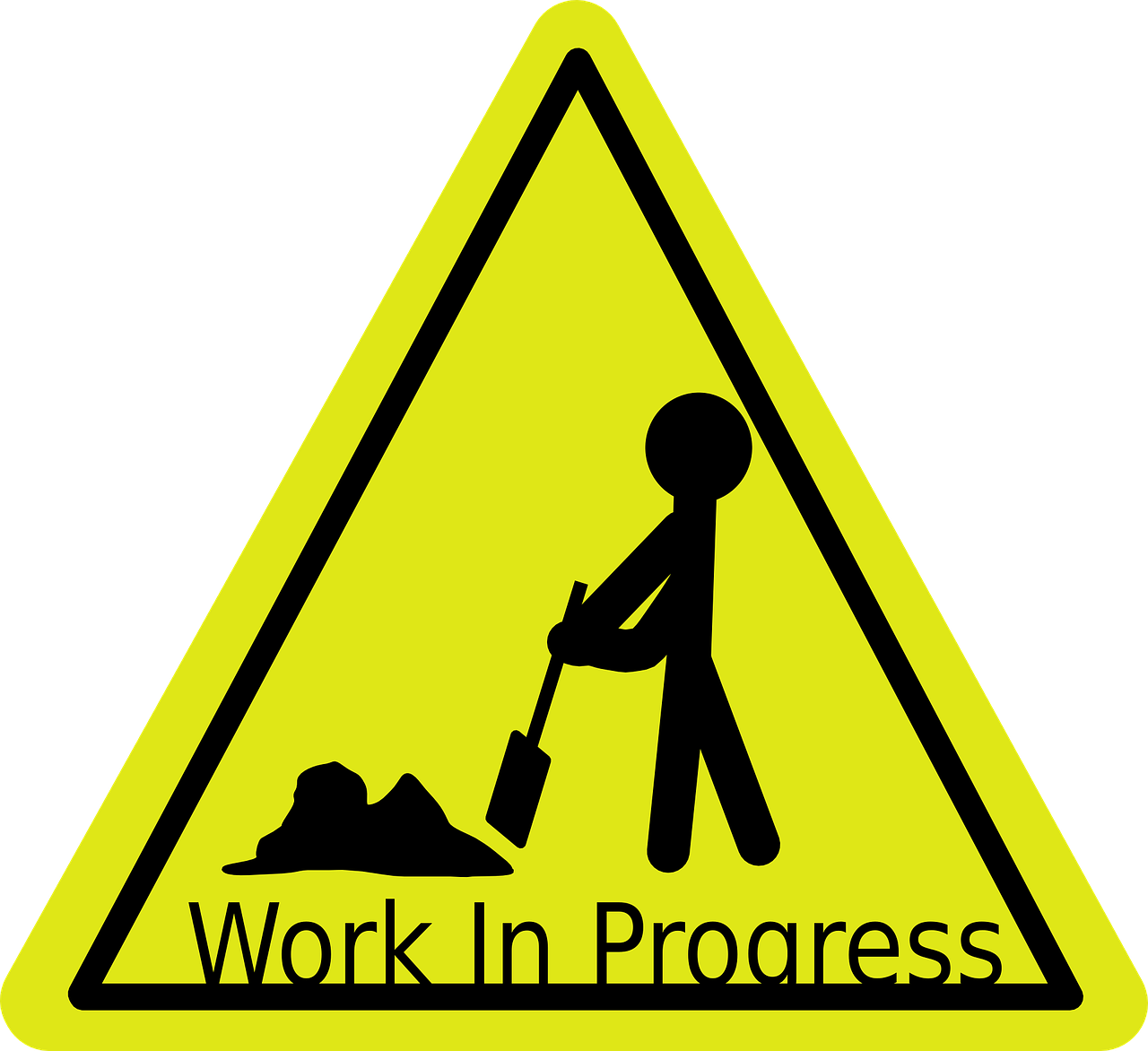 work-in-progress,sign,activity,workers,road,shovel,worker,construction,safety,beware,caution,warning,symbol,traffic sign,free vector graphics,free pictures, free photos, free images, royalty free, free illustrations, public domain