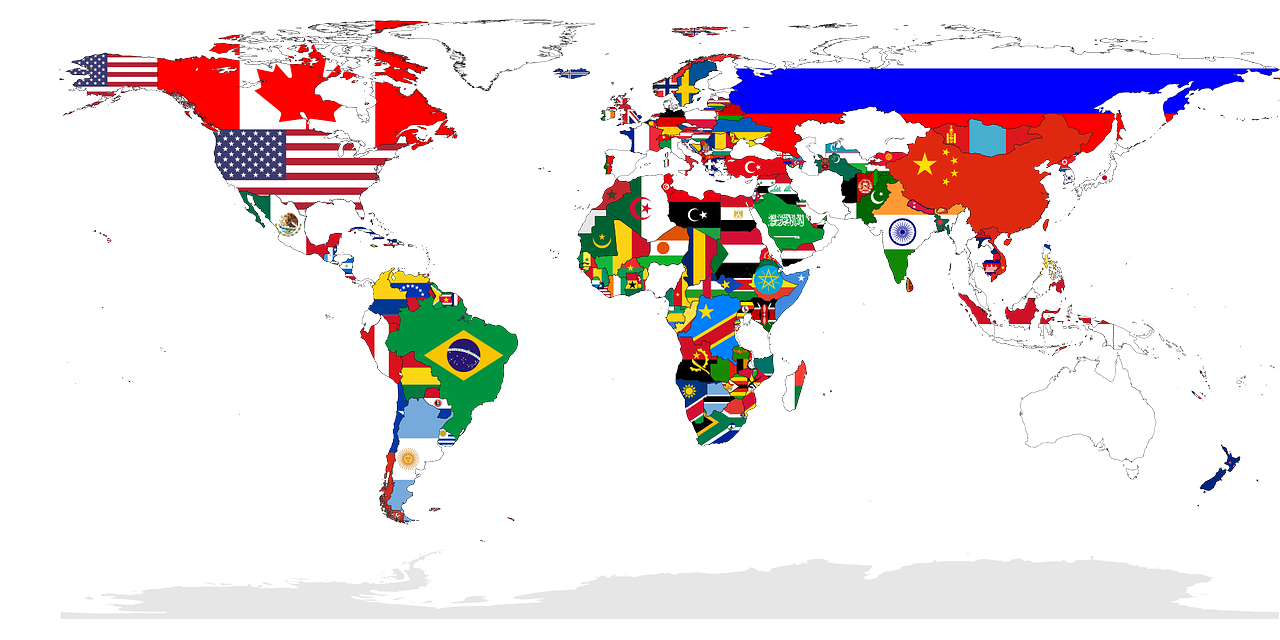 World Map Countries Flags Nations Free Photo From Needpix Com