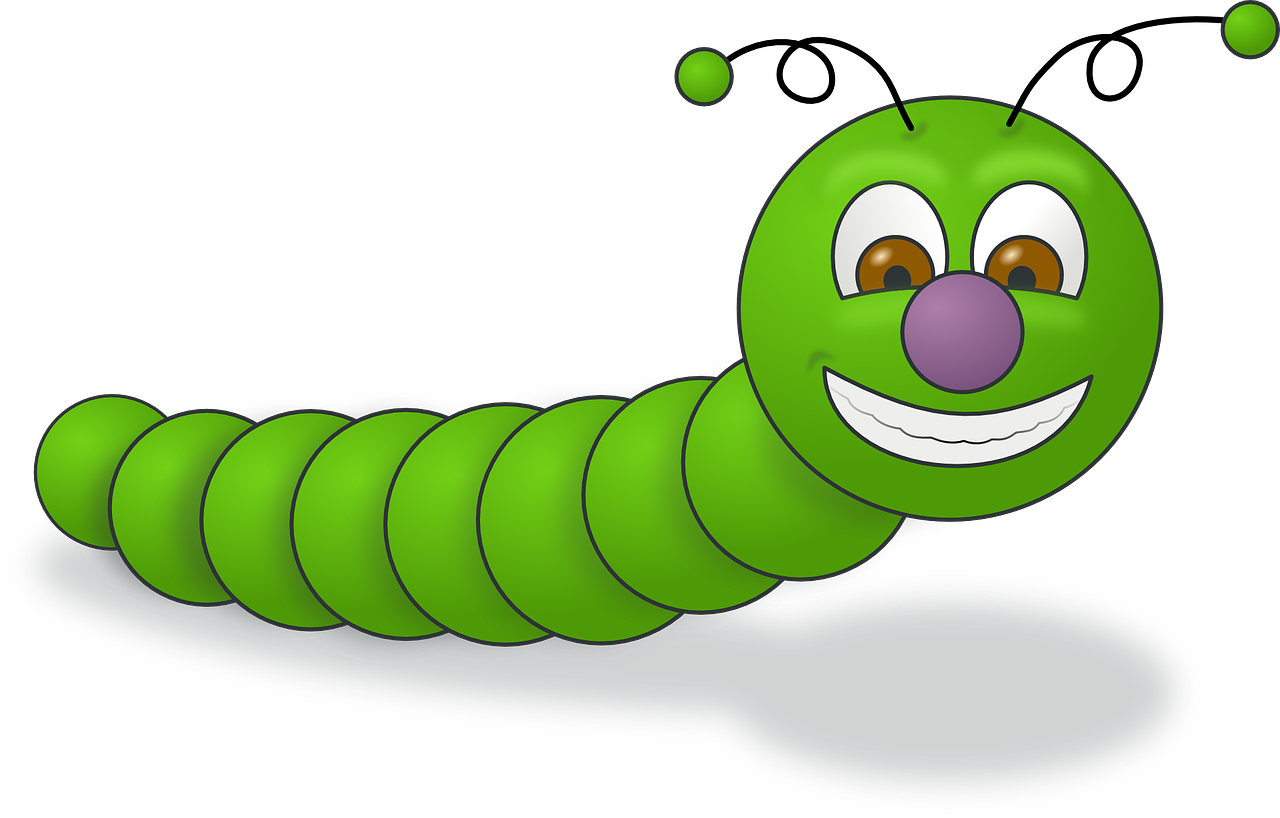 worm green caterpillar free picture