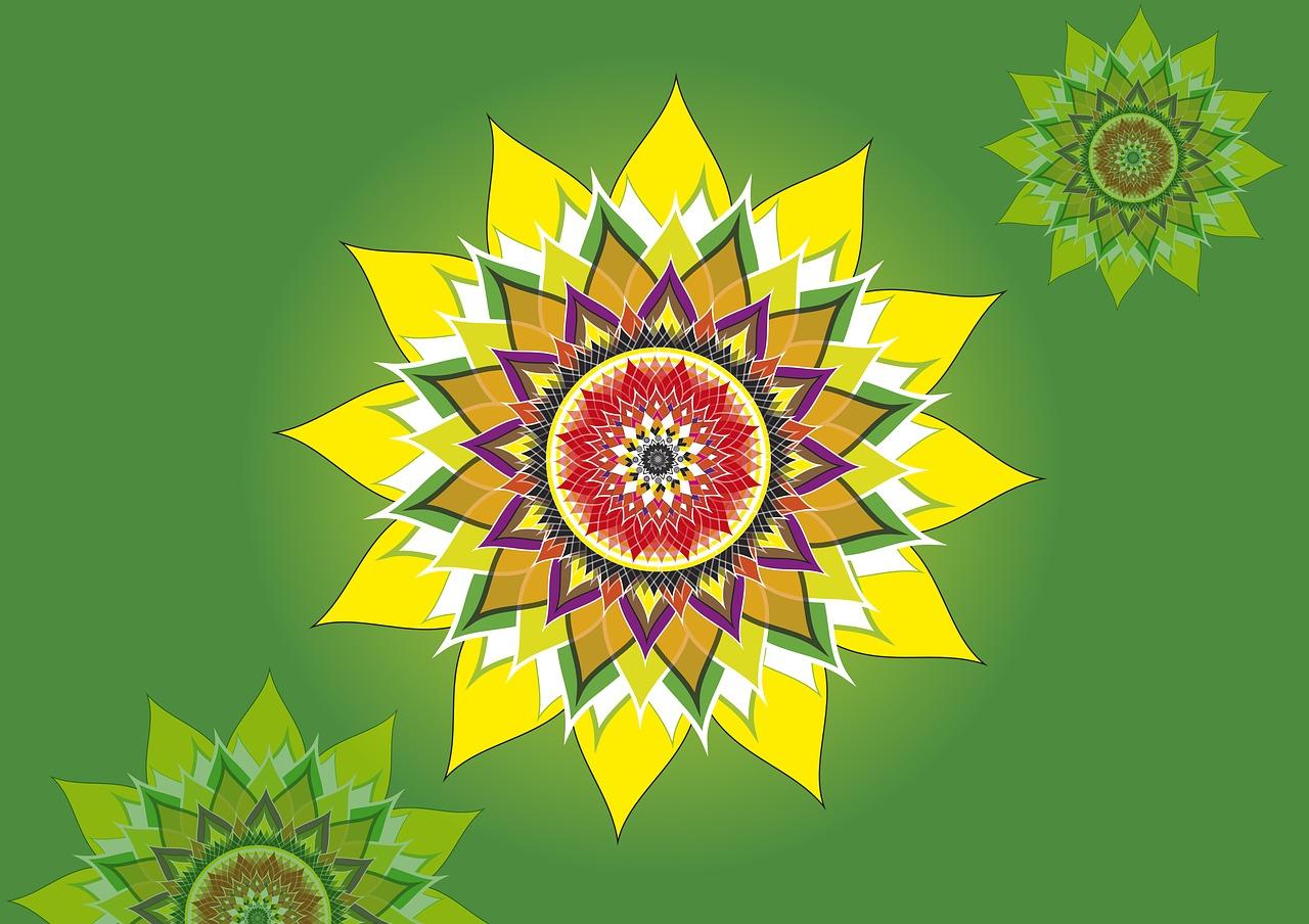 Yellow Lotusflowerline Graphicfree Illustrationsroyalty Free