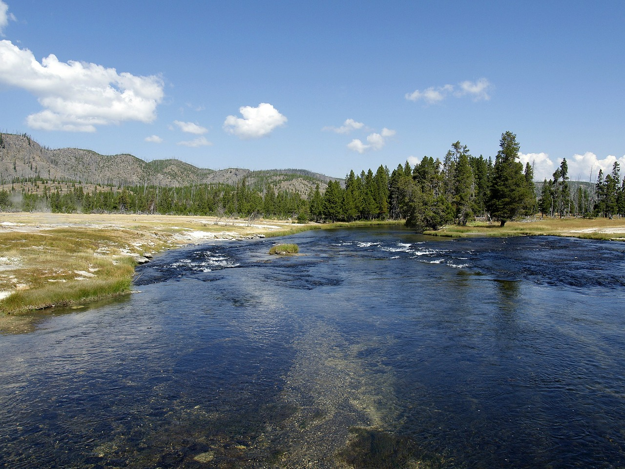 yellowstone river water wyoming free photo