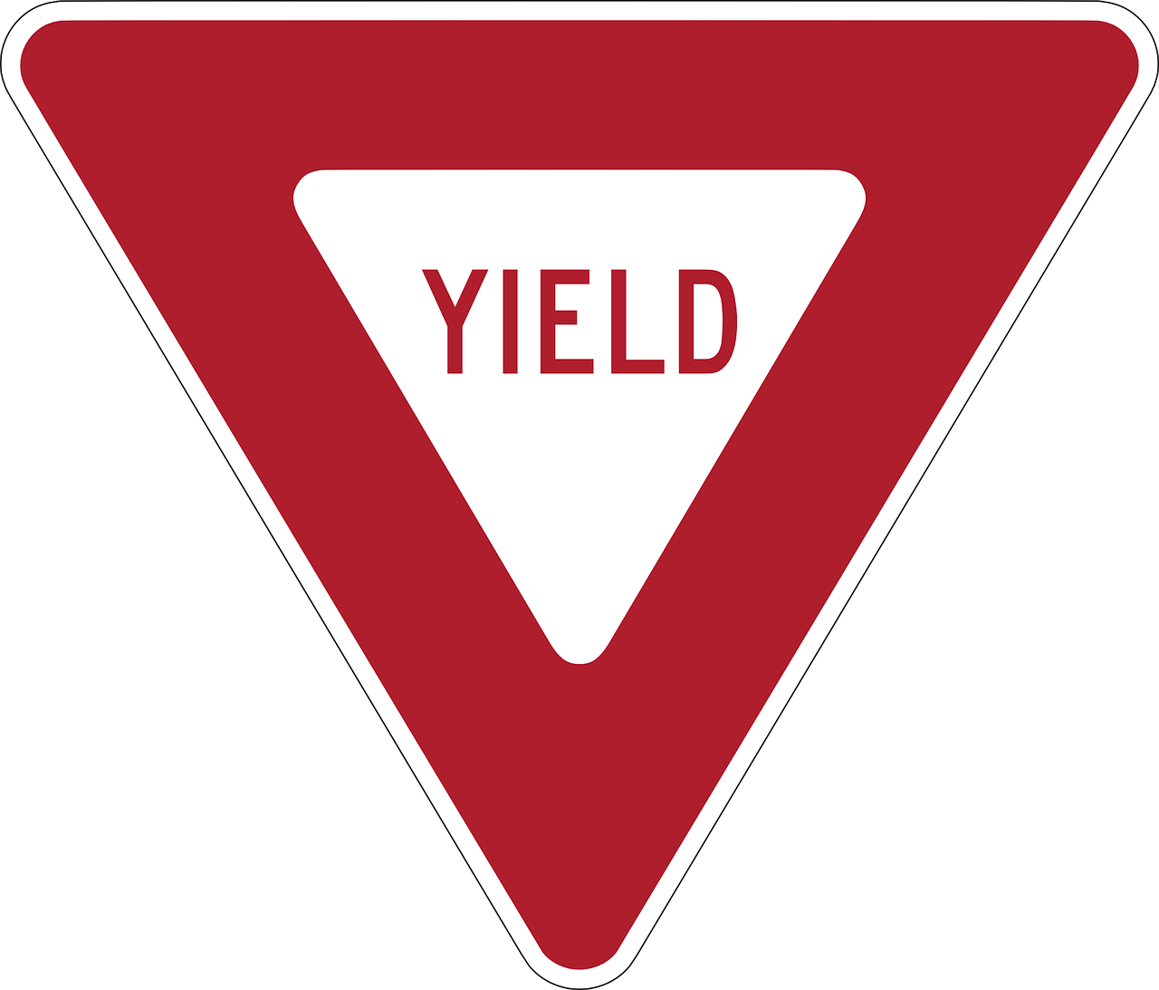 yield give way road sign free photo