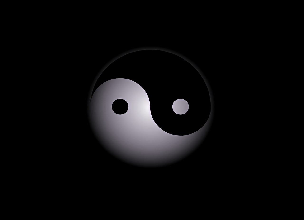 yin-yang abstract background free photo