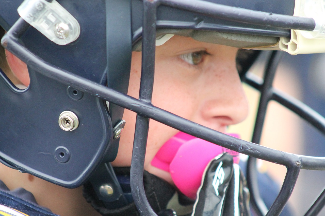 youth football helmet mouthpiece free picture