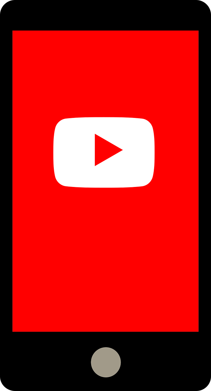 youtube,smartphone,application,video,uploads,streaming,free vector graphics,free pictures, free photos, free images, royalty free, free illustrations, public domain