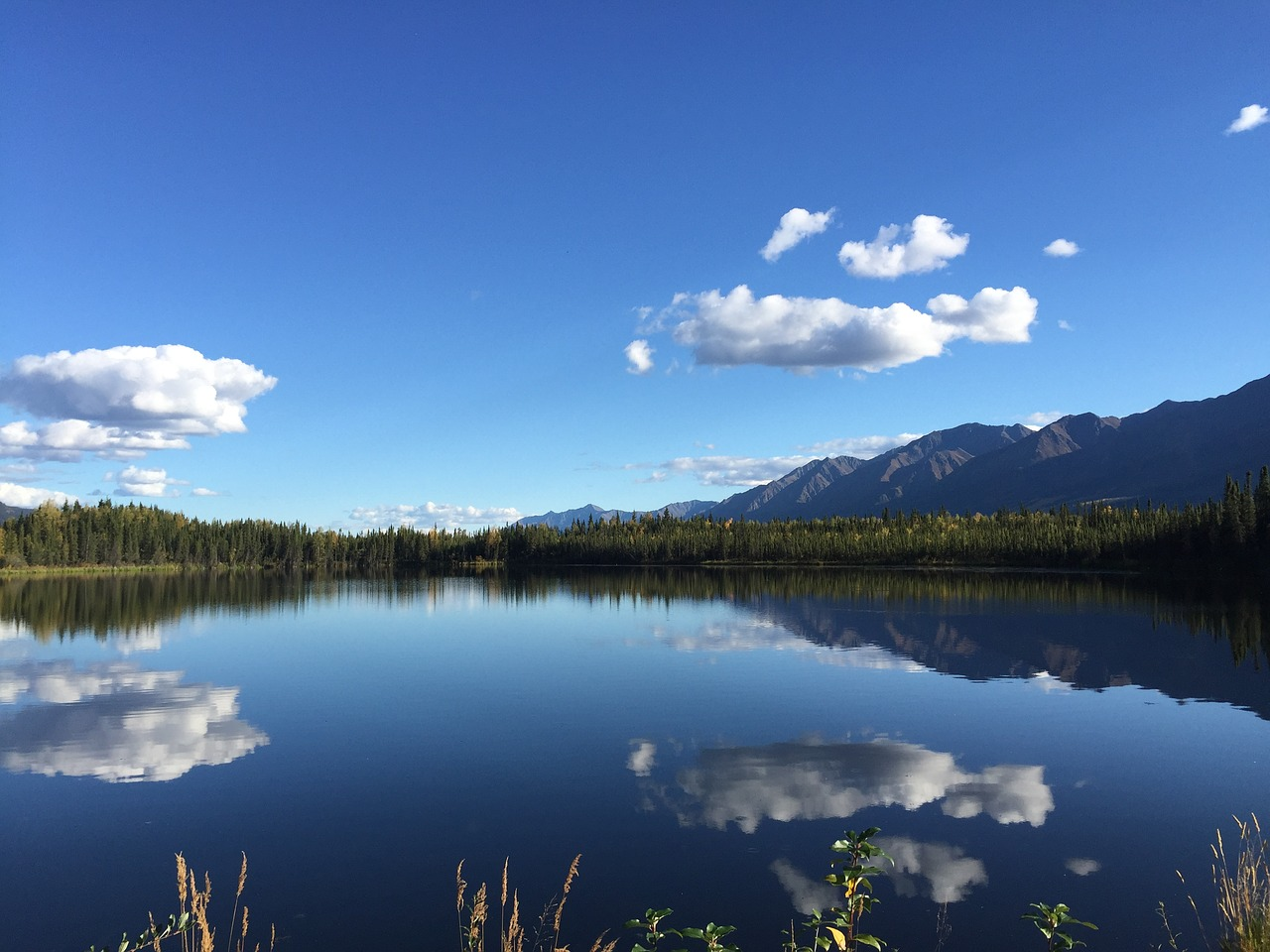 yukon territory nature lake free photo