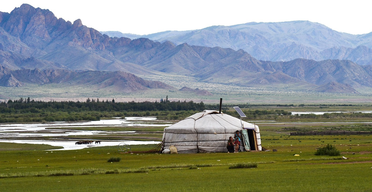 yurt mongolia steppe free photo