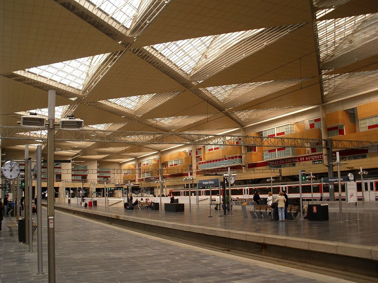 zaragoza spain train station free photo