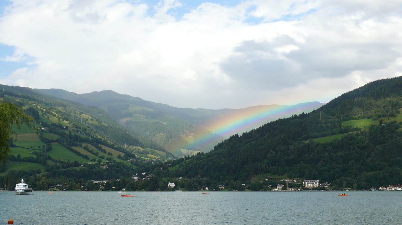 zellamsee rainbow nature free photo