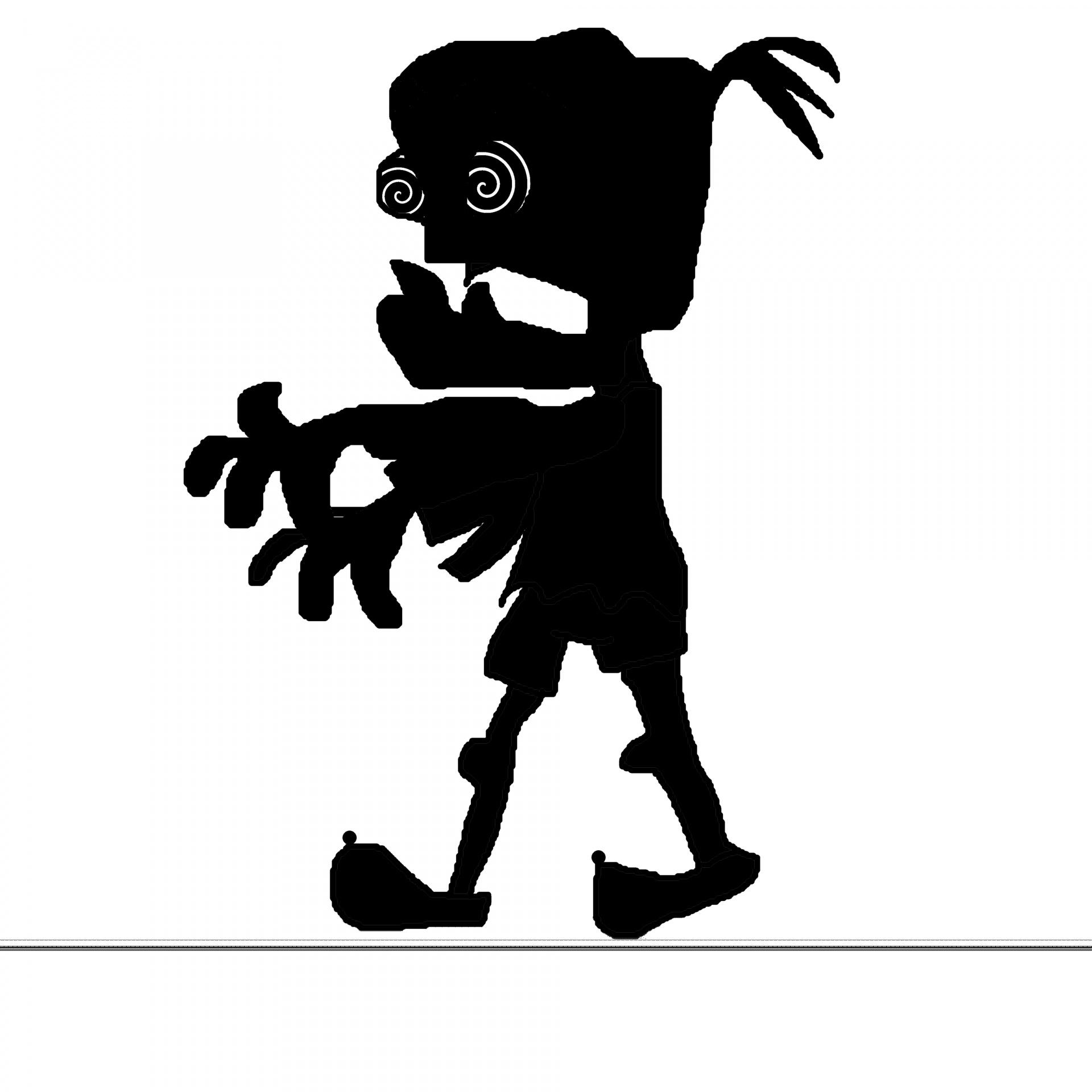 Zombie Black Silhouette White Background Free Photo From Needpix Com
