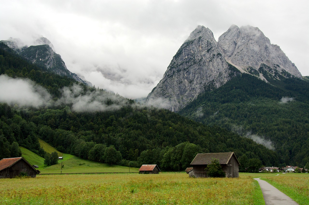 zugspitze hiking mountains free picture
