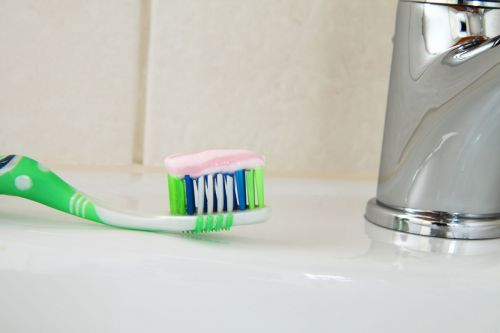 Brush With Toothpaste