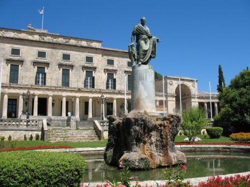 Statue In Corfu