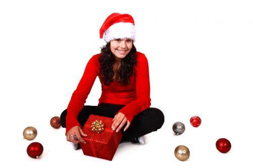 Christmas Girl With Hat