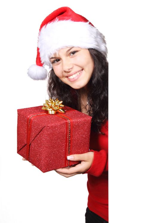 Santa With Present