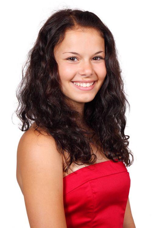 Portrait In Red Dress