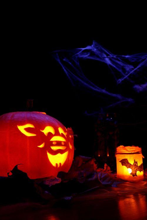 Jack-o-lantern And Candle