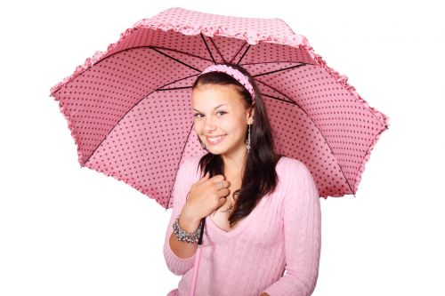 Woman With Dotted Umbrella