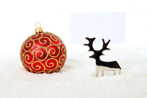 Reindeer With Bauble