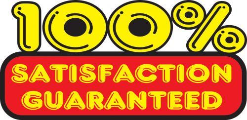 100% Satisfation Guaranteed Sticker
