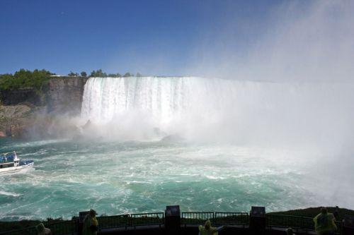 Behind Niagara Falls