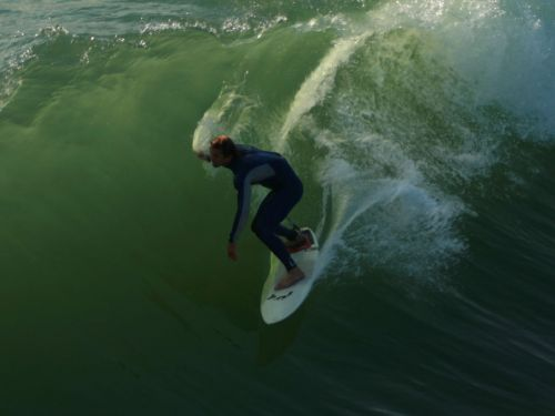 Surfing A Wall Of Water