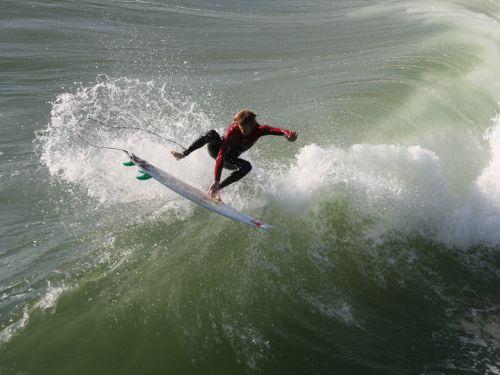 Surfer Goes Airborne