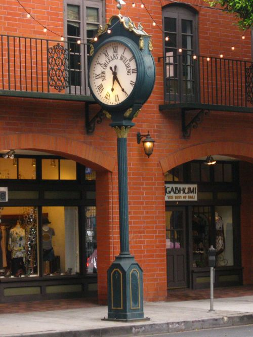 Large Sidewalk Clock
