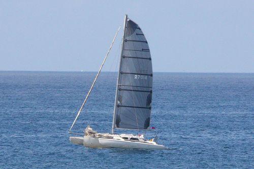 Single-mast Catamaran