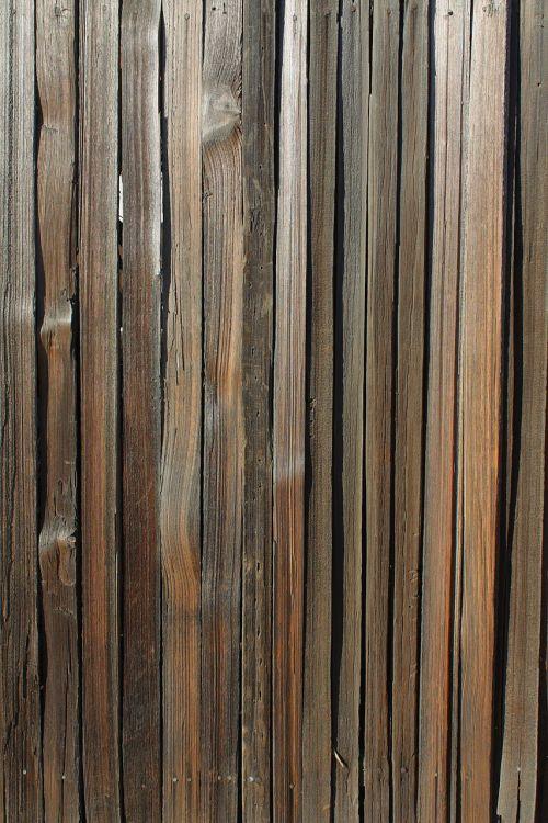 Weathered Wood Slat Fence