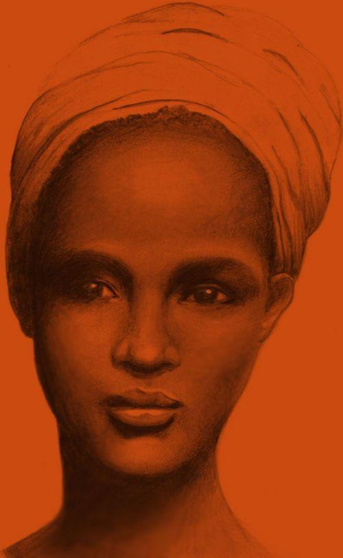 Afrikos, Lady, galvos skara, amerikietis, afro, karibai, etninis, african lady