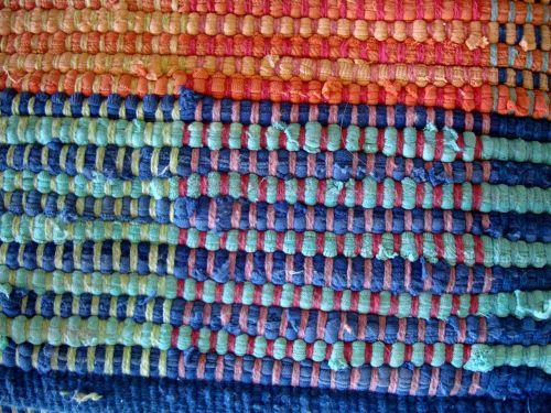 Woven Rug Closeup