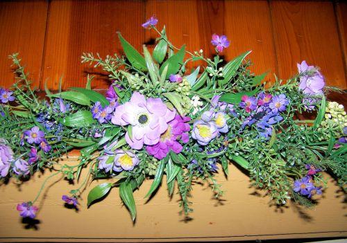 gėlės, objektai, vis dar, gyvenimas, arka, išdėstymas, šilkas, apdaila, arkų šilko gėlių išdėstymas