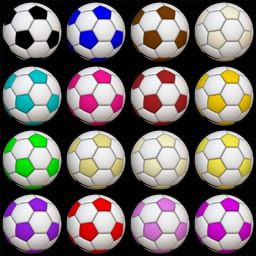 16 Soccer Balls B