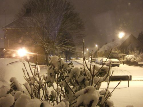 Snowy Scene In UK