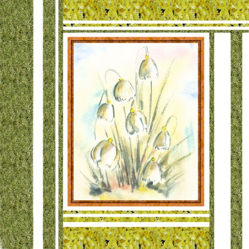 Flowers With Texture Frame