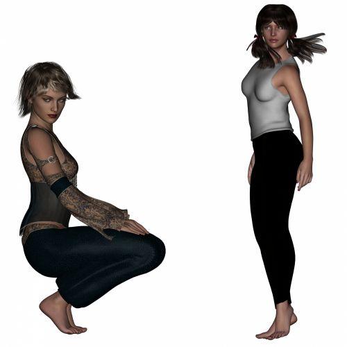 2 Women Posing
