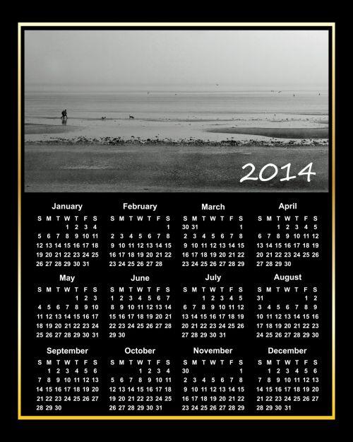 2014 Calendar Beach Walk