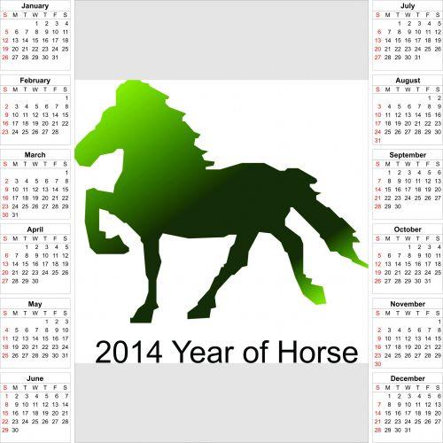 2014 Calendar Horse