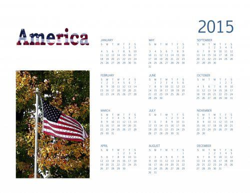 2015 Annual Americana Calendar