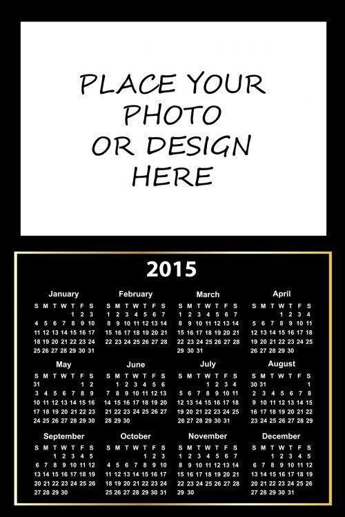 2015 Calendar Photo Holder