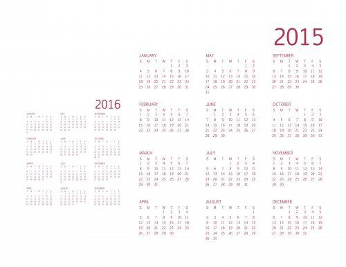 2015/16 Calendar In Cranberry