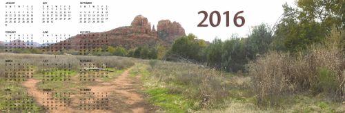 2016 Annual Calendar Of Sedona