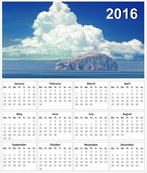 2016 Bass Rock Calendar